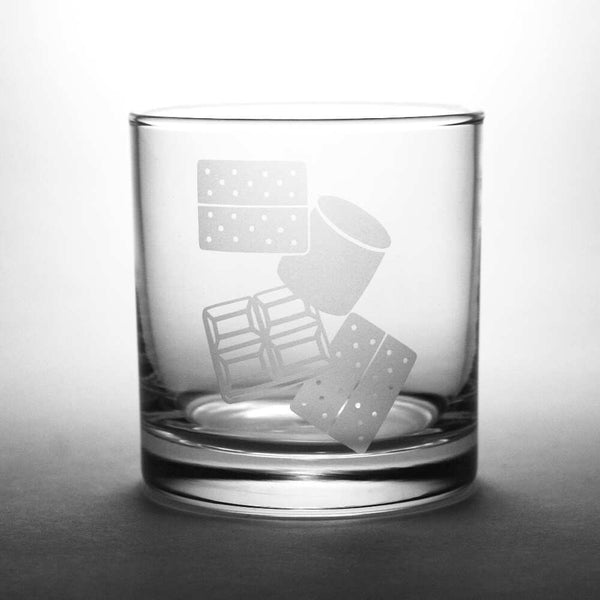 S'more lowball whiskey glass