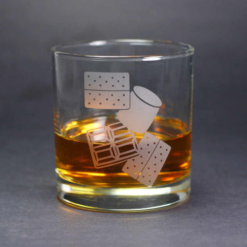 S'mores lowball whiskey glass