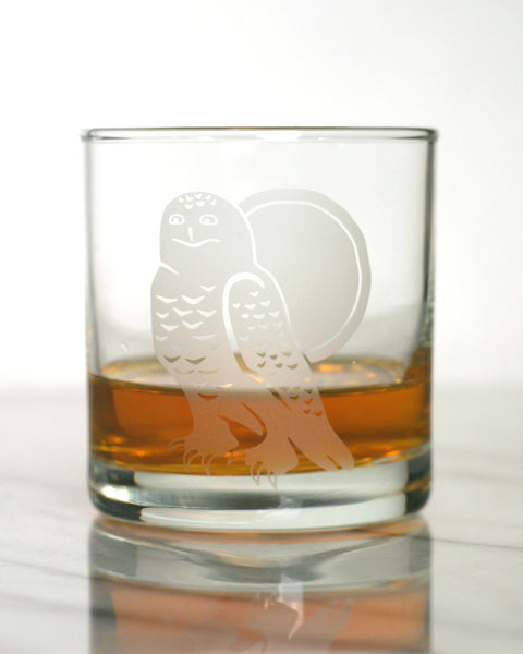 Snowy Owl Cocktail Glass