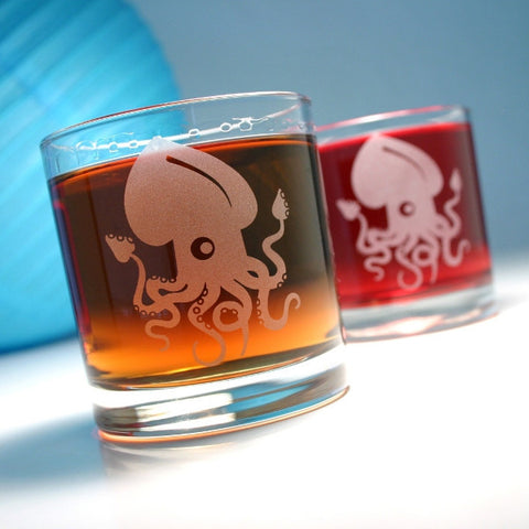 Squid Lowball Glass (Retired)
