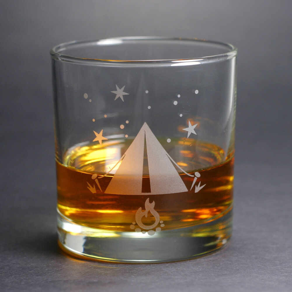 Tent lowball whiskey glass by Bread and Badger
