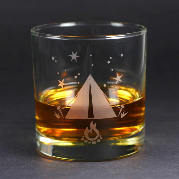Tent scotch whiskey glass by Bread and Badger