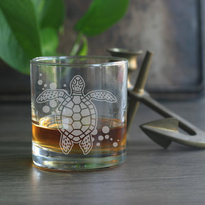 Sea turtle cocktail glasses by Bread and Badger