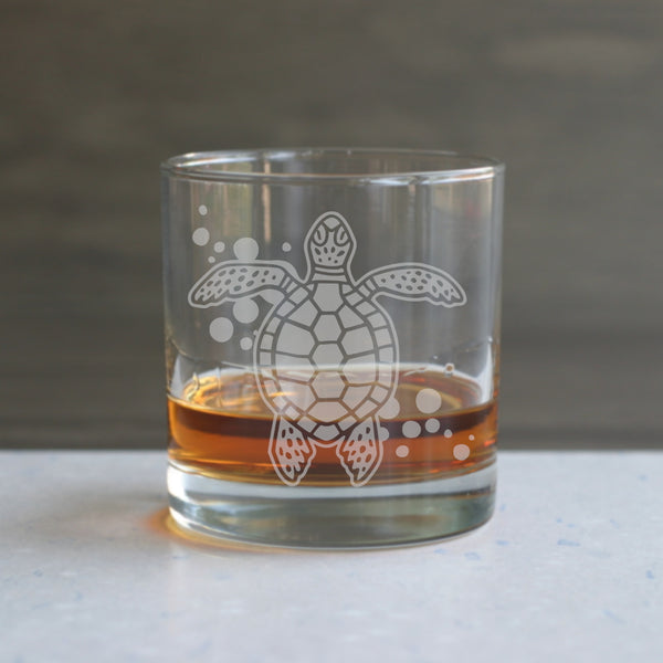 Sea turtle lowball glasses by Bread and Badger