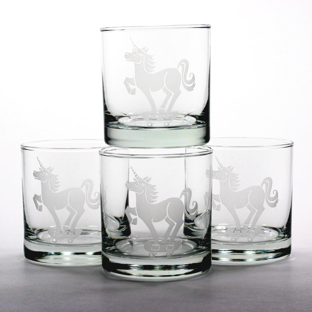 Unicorn Lowball Glass