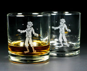 zombie man glassware set