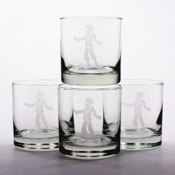 undead zombie scotch whiskey glasses