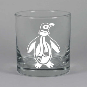Penguin lowball glass by Bread and Badger