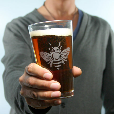 Bee Pint Glass
