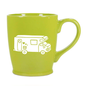 RV Camper Van mug in celery green by Bread and Badger