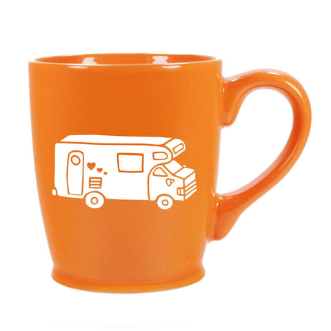 RV Camper Van mug in orange by Bread and Badger