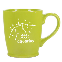aquarius constellation mug, green, by Bread and Badger