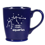 aquarius constellation mug, navy blue, by Bread and Badger