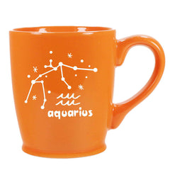aquarius constellation mug, orange, by Bread and Badger