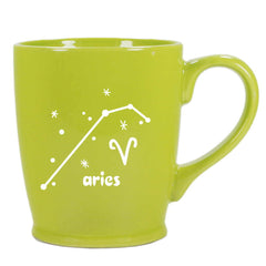 aries constellation mug, green, by Bread and Badger