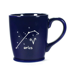 aries constellation mug, navy blue, by Bread and Badger