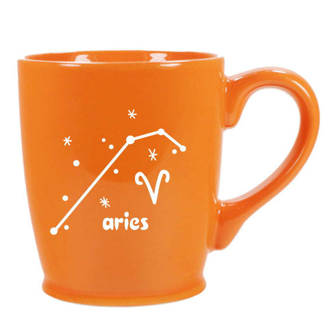 aries constellation mug, orange, by Bread and Badger