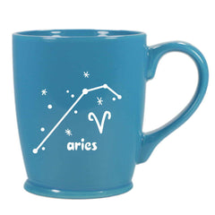 aries constellation mug, sky blue, by Bread and Badger