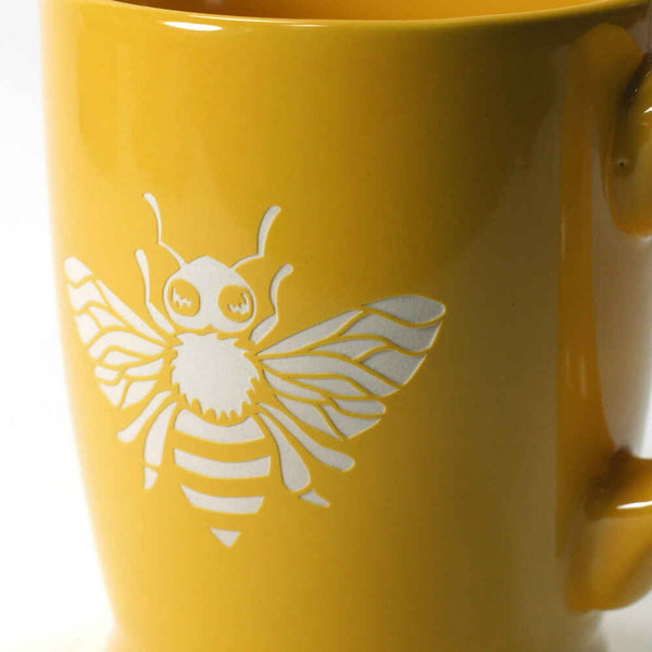 Yellow Gold bee mug
