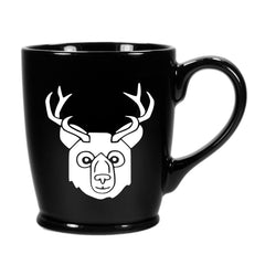 BEER Bear with Antlers Mug, standard black