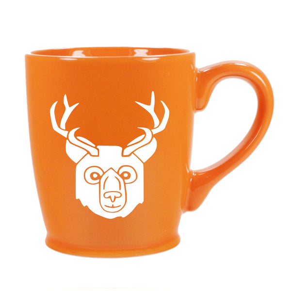 BEER Bear with Antlers Mug, standard orange