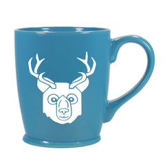 BEER Bear with Antlers Mug, standard sky blue