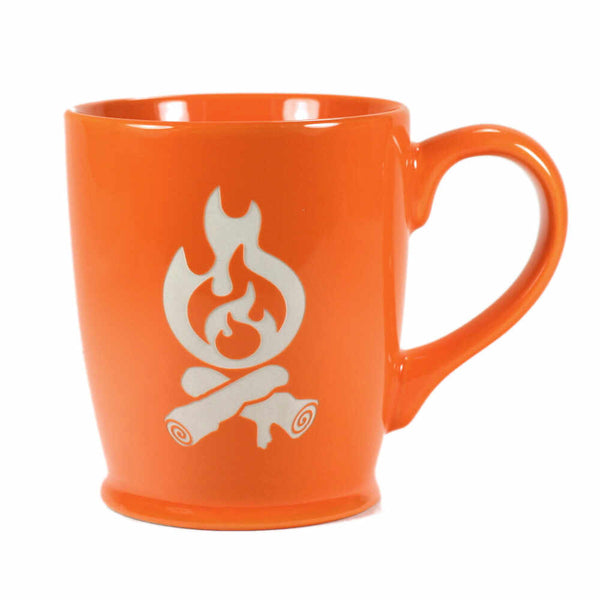 Campfire mug in orange by Bread and Badger