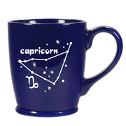 capricorn constellation mug, navy blue, by Bread and Badger