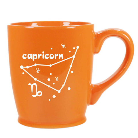 capricorn constellation mug, orange, by Bread and Badger