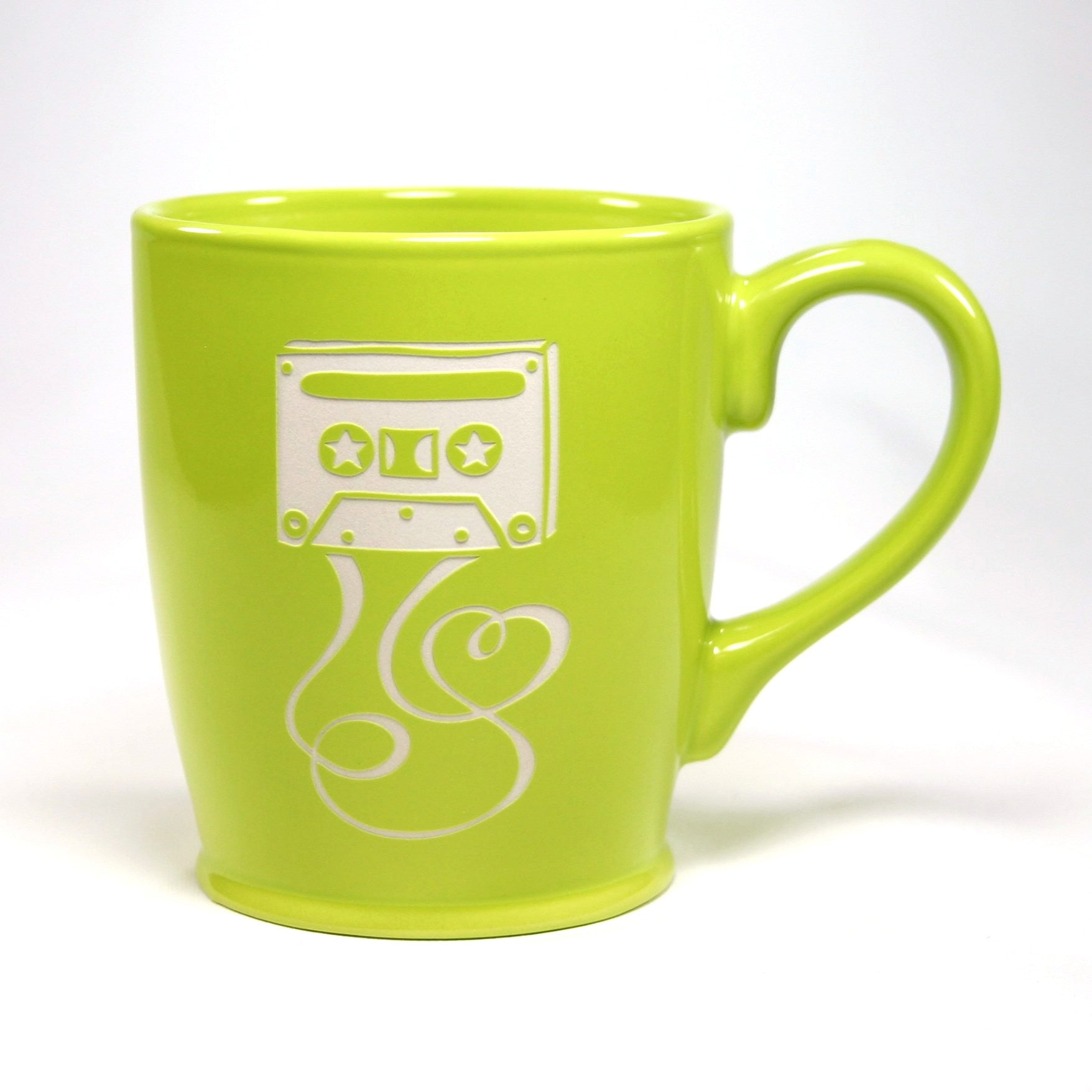 green mixtape coffee mug
