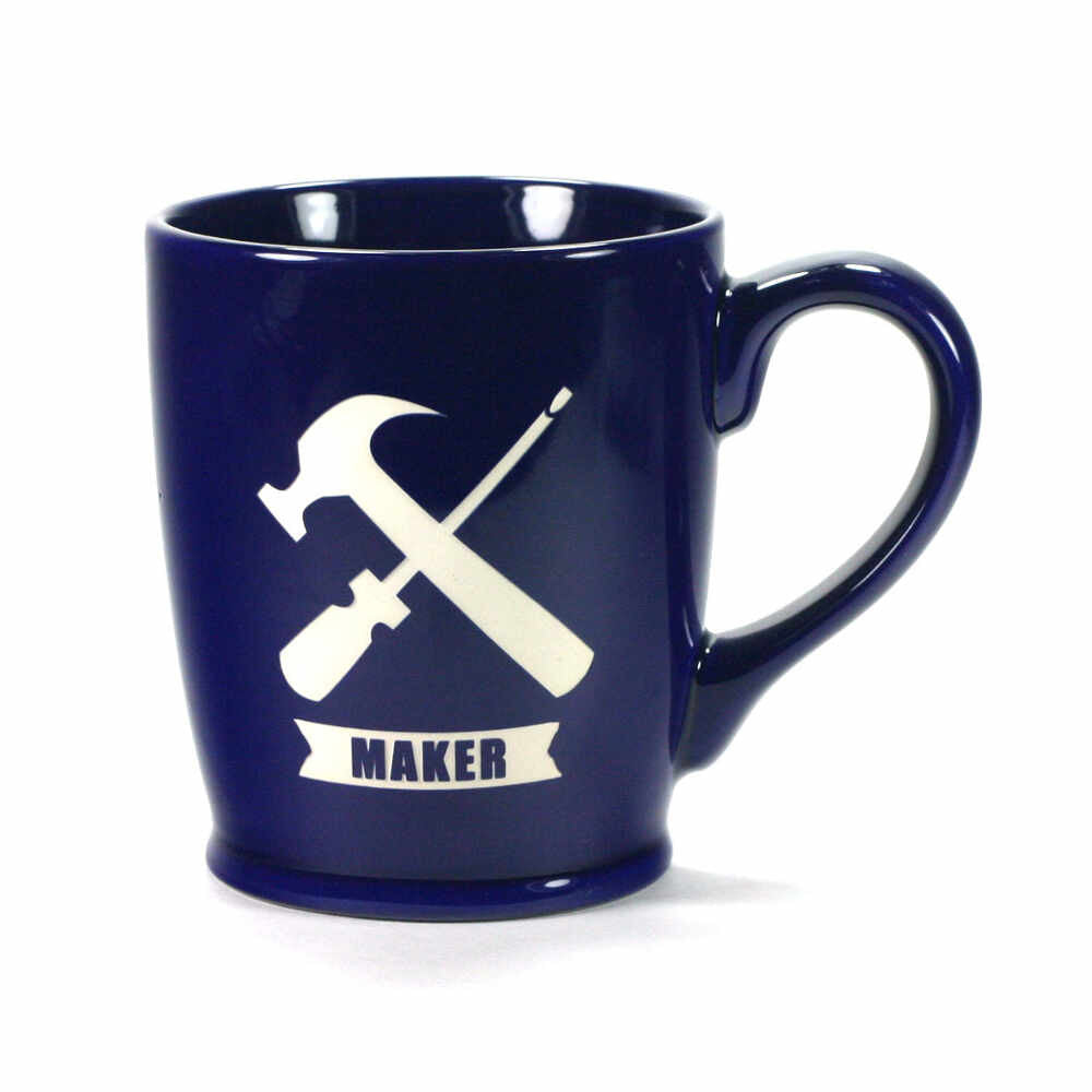 Maker Handyman coffee mug, navy blue