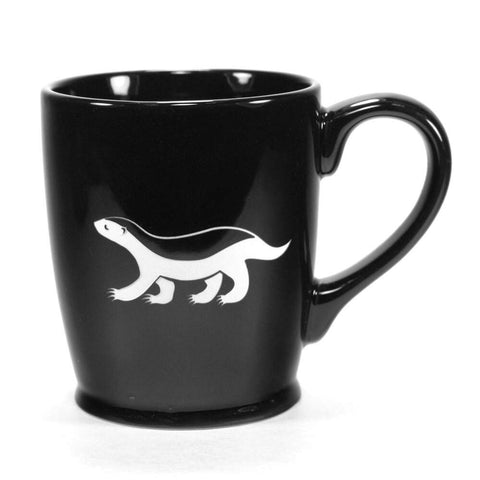 black honey badger mug