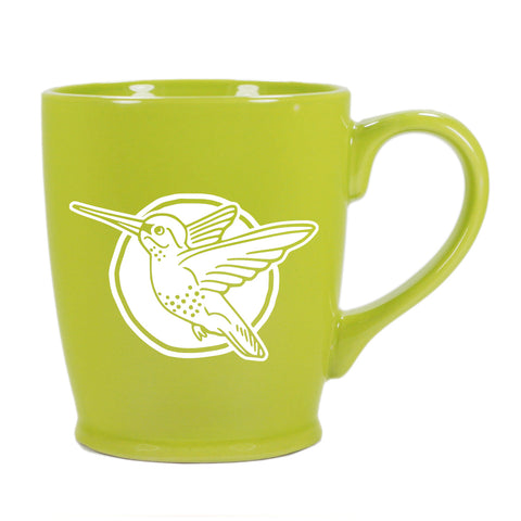 Hummingbird mug in Standard Green by Bread and Badger