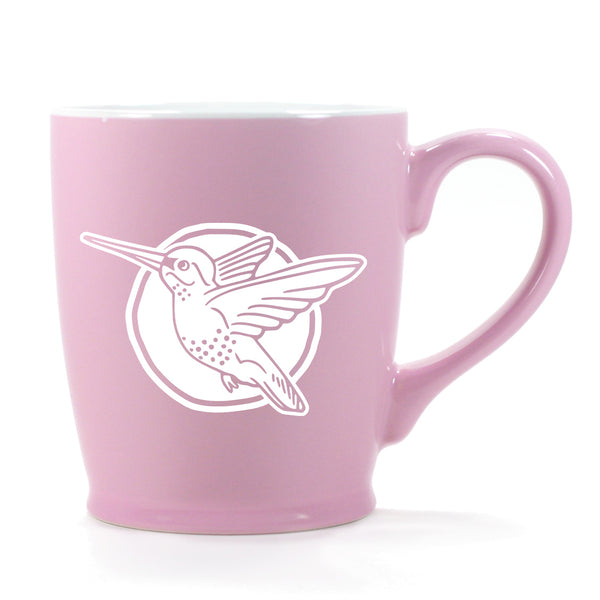 Hummingbird mug in Standard Pink by Bread and Badger