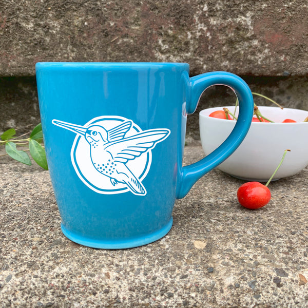 Hummingbird mug in Sky Blue by Bread and Badger