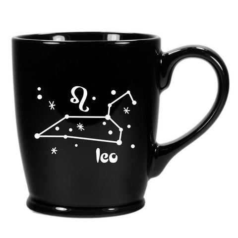 leo constellation mug, black, by Bread and Badger