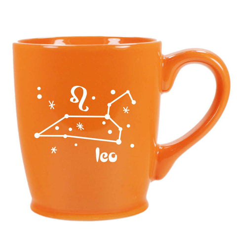 leo constellation mug, orange, by Bread and Badger