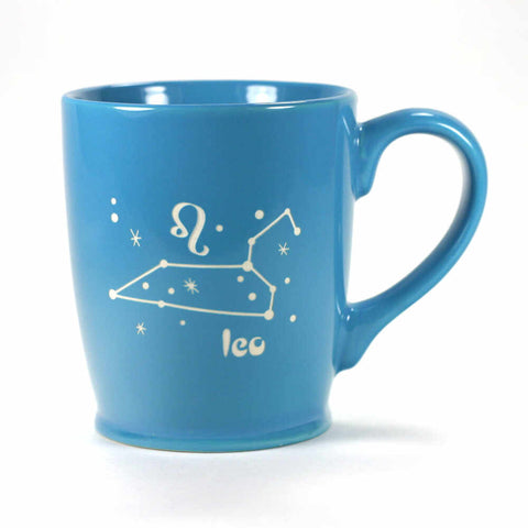 leo constellation mug, sky blue, by Bread and Badger