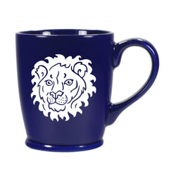 Lion mug in navy blue by Bread and Badger