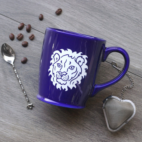 Lion Mug (LE) with Handle - Engraving is Dishwasher-Safe, Microwave-Safe