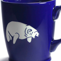 Standard Navy Blue manatee mug by Bread and Badger