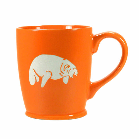 Standard Orange manatee mug by Bread and Badger