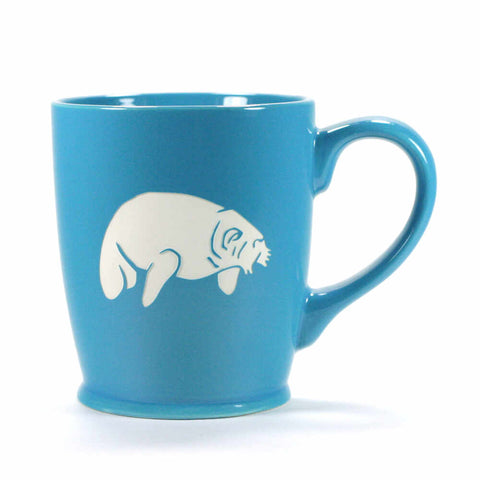 Standard Sky Blue manatee mug by Bread and Badger