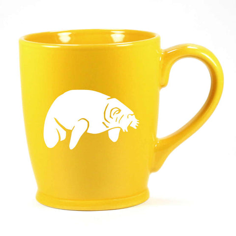 Standard Yellow manatee mug by Bread and Badger