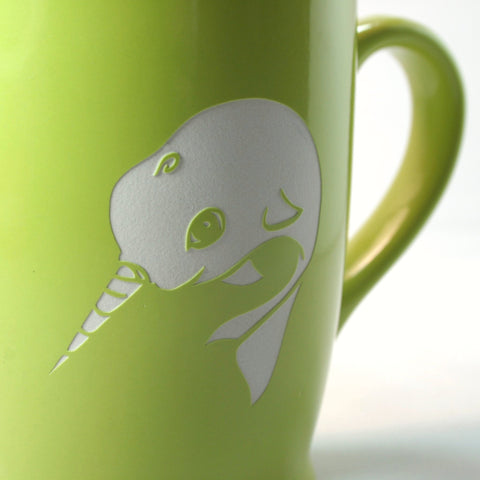 sandblasted mug by Bread and Badger