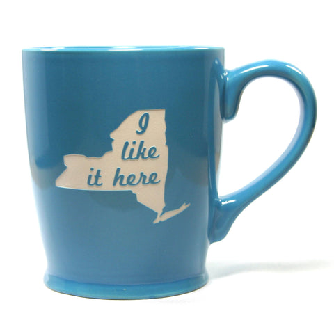 New York state mug sky blue