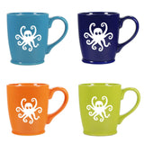 Classic Set of 4 Octopus mugs
