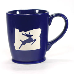 navy blue Oregon Stag mugs