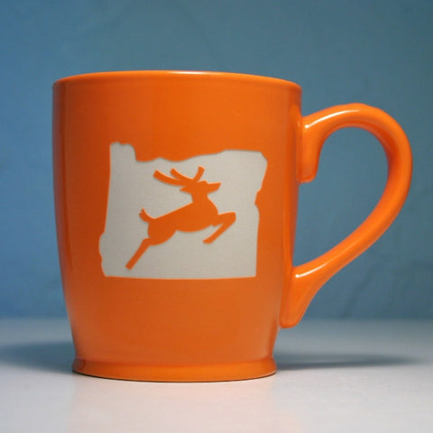 Oregon Stag coffee mug orange