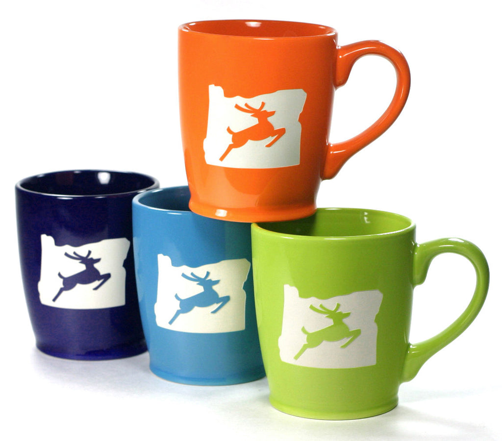 Oregon stag coffee mugs set